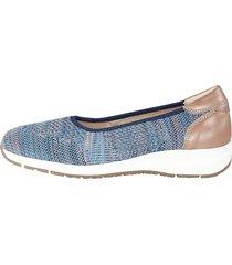 elastiska skor naturläufer blå