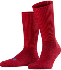 men's falke walkie ergo crew socks, size x-large - red