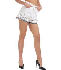 pantaloncini corti shorts donna jeans denim bermuda