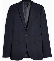 mens navy super skinny fit suit blazer with notch lapels
