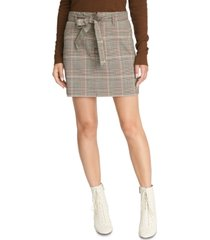 sanctuary inland sashed plaid mini skirt