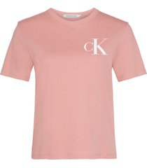 camiseta manga corta back institutional logo slim rosa calvin klein
