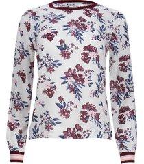 blusa con resorte en mangas color blanco, talla 6