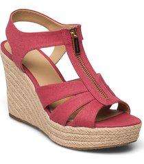 berkley wedge sandalette med klack espadrilles rosa michael kors