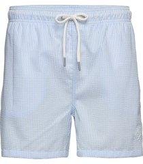 seersucker swim shorts cf zwemshorts blauw gant