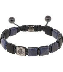 blue sapphire and onyx lock bracelet