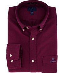 gant overhemd bordeaux regular fit