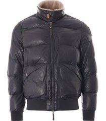 parajumpers alf leather jacket | navy | pmjckle-03