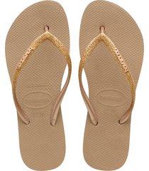 women's havaianas flatform flip flop, size 41/42 br - metallic