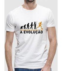 camiseta a evolução masculina