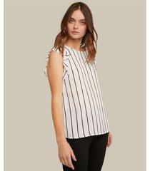 blusa sin manga tipo bolero cuello redondo estampada