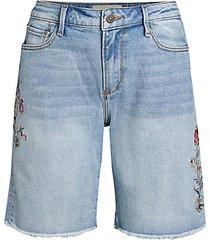 jill floral denim shorts