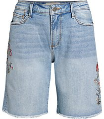 jill floral denim shorts