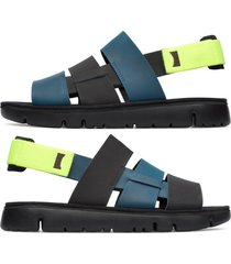 camper twins, sandali uomo, nero/blu/giallo, misura 46 (eu), k100470-007