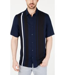 alfani men's regular-fit bowler stripe-print shirt, created for macy's