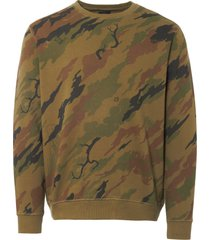 maharishi woodland camo red tiger sweatshirt 8564
