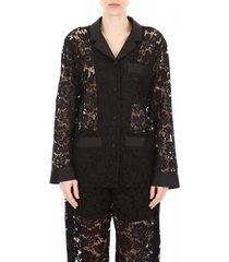 heavy lace pyjama shirt