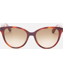chloé women's cat eye acetate sunglasses - havana
