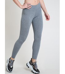 calça legging feminina esportiva ace básica cinza mescla