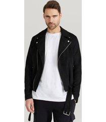jacka fake suede biker jacket
