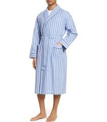 men's majestic international estate dobby shawl robe, size small/medium - blue