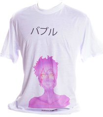 camiseta branca prorider bad rose personagem autoral nanami nem - bubbleglow
