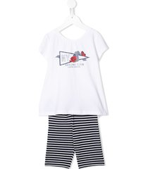 lapin house sailing club tracksuit set - white