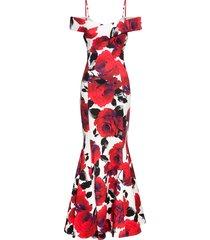 abito a rose con cut-out (bianco) - bodyflirt boutique