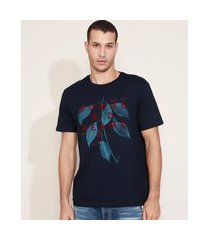 "camiseta masculina summer dreams"" manga curta gola careca azul marinho"""