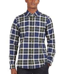 barbour men's tailored-fit stretch tartan shirt