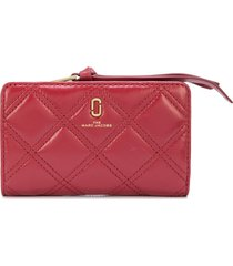 marc jacobs the quilted softshot compact wallet - red