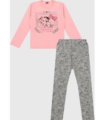 conjunto rosa-gris bee loop
