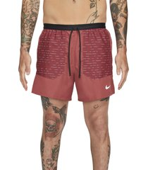 nike frame pleated belted leather shorts, size xx-large in cedar at nordstrom