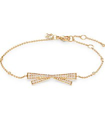 18k yellow gold & diamond bow bracelet