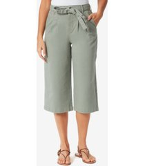 gloria vanderbilt women's high rise pleated culotte pants
