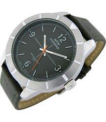 reloj verde montreal cuero
