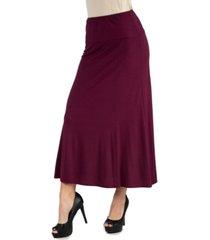 women's elastic waist maxi skirt