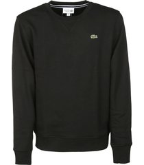 lacoste logo patched sweatshirt