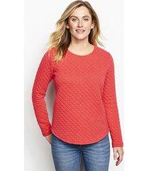 quilted crewneck sweatshirt, roseberry, x large