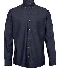 light weight denim   l/s, modern fit skjorta casual blå seven seas copenhagen