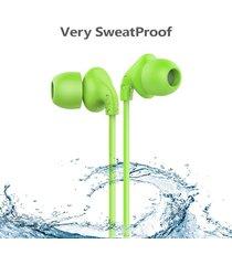 audífonos bluetooth deportivos, h1 inalámbrico audifonos bluetooth manos libres  impermeable en el oído auriculares estéreo de cancelación de ruido auricular para sony iphone samsung (verde)