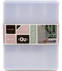 porta talher organizador de gaveta com tampa martiplast logic branco em polipropileno 35x27,5x7,5cm