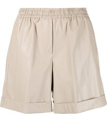 nude high-rise loose fit shorts - neutrals
