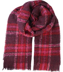 woolrich bouclè tartan scarf