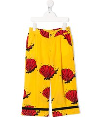 mini rodini shell printed trousers - yellow