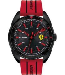ferrari men's forza red silicone strap watch 45mm
