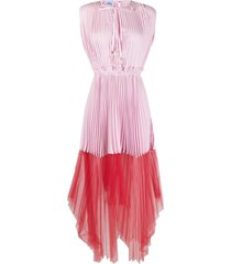 atu body couture pleated tulle-panel dress - pink