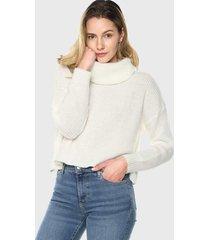 sweater cuello tortuga  blanco mujeron