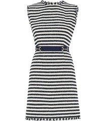 zebio stripe tweed dress