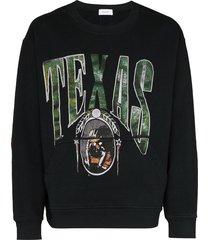 rhude texas crew-neck sweatshirt - black